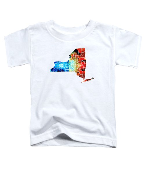 New York - Map By Sharon Cummings Toddler T-Shirt