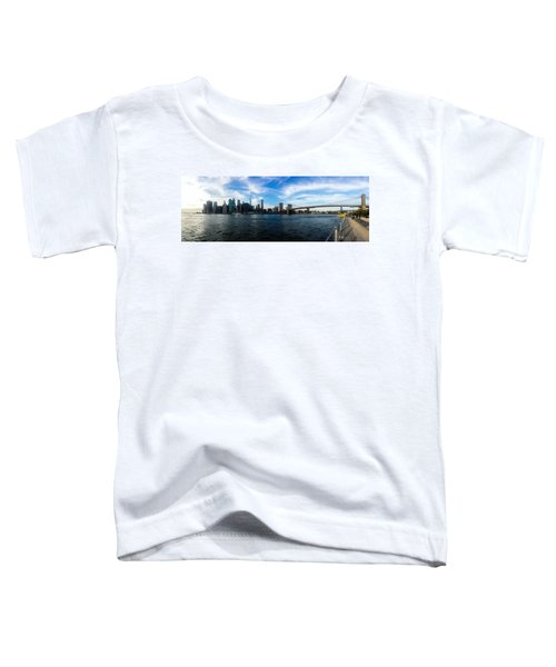 New York Skyline - Color Toddler T-Shirt by Nicklas Gustafsson