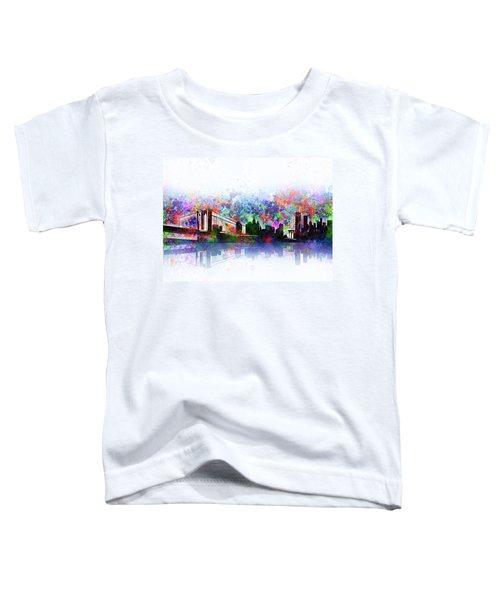 New York Skyline Splats 2 Toddler T-Shirt