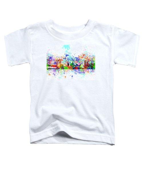 New York Skyline Splats Toddler T-Shirt