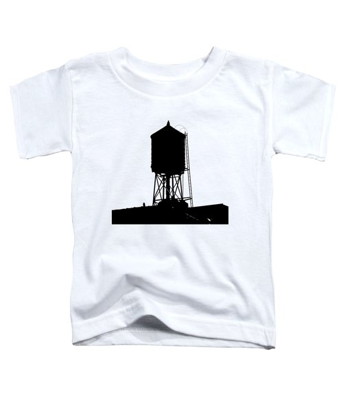 New York Water Tower 17 - Silhouette - Urban Icon Toddler T-Shirt