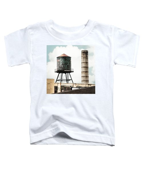 Water Tower And Smokestack In Brooklyn New York - New York Water Tower 12 Toddler T-Shirt