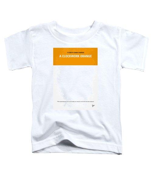 No002 My A Clockwork Orange Minimal Movie Poster Toddler T-Shirt