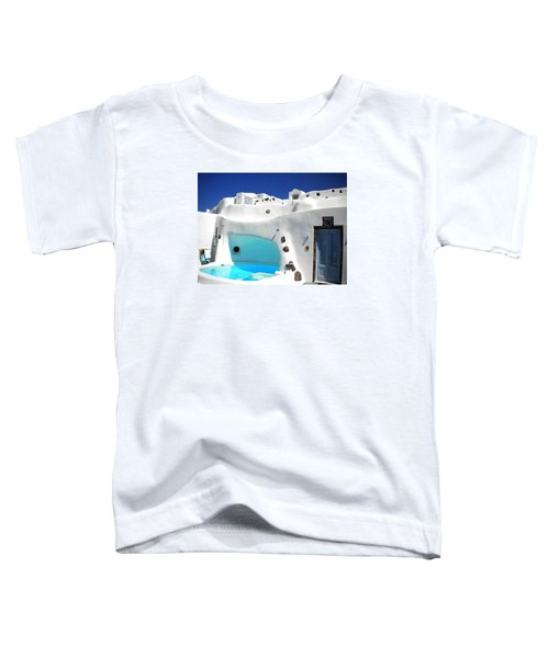 Toddler T-Shirt featuring the photograph Oia Santorini  With Direct View To The Oceon Greece by Colette V Hera  Guggenheim