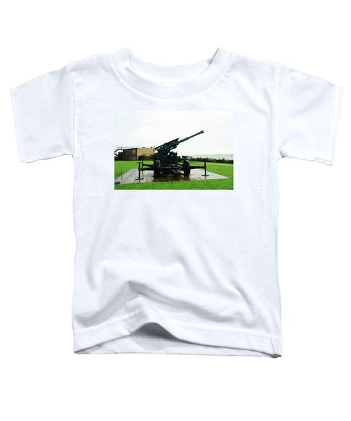 Oil Painting - Anti Aircraft Gun At Dover Castle Toddler T-Shirt