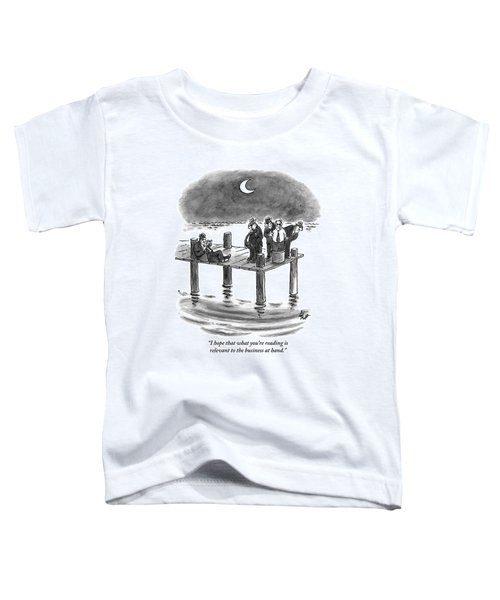 On A Pier, Three Mobsters Prepare To Drown Toddler T-Shirt