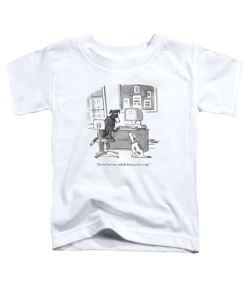 On The Internet Toddler T-Shirt by Peter Steiner
