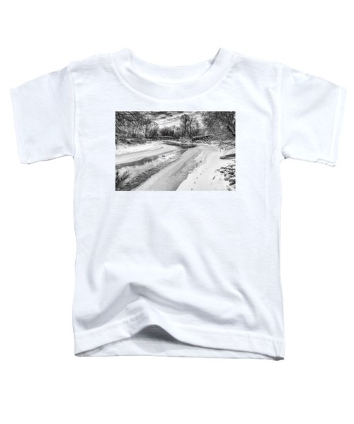 On The Riverbank Bw Toddler T-Shirt