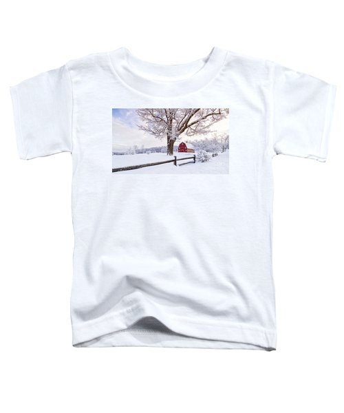 One Winter Morning On The Farm Toddler T-Shirt