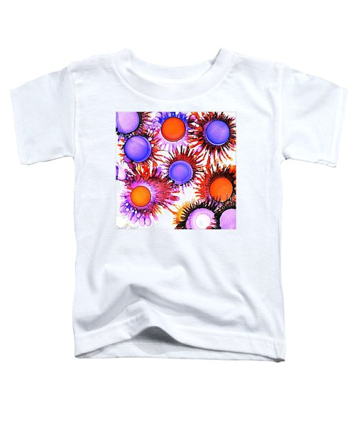 Orange And Purple Alcohol Inks Abstract Toddler T-Shirt