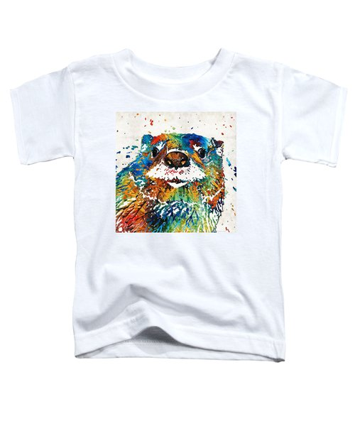 Otter Art - Ottertude - By Sharon Cummings Toddler T-Shirt