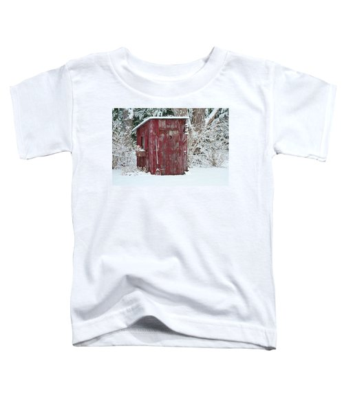 Outhouse Garden Shed In Winter, Marion Toddler T-Shirt