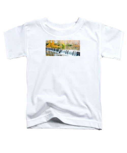 Panorama Of Buck Creek In Autumn Toddler T-Shirt
