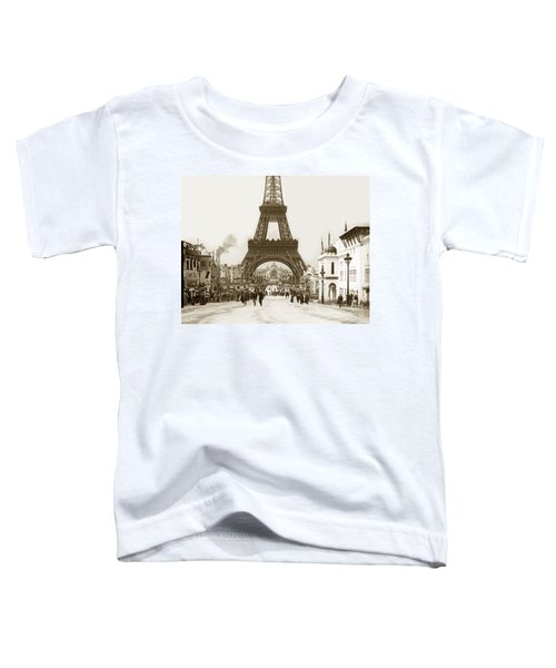 Paris Exposition Eiffel Tower Paris France 1900  Historical Photos Toddler T-Shirt