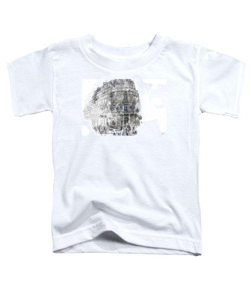 Paris With Flags Toddler T-Shirt