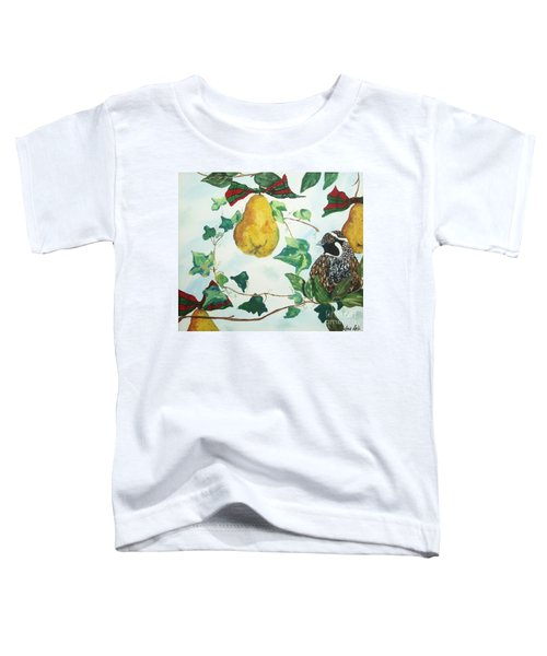 Partridge And  Pears  Toddler T-Shirt