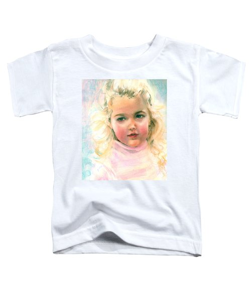 Pastel Portrait Of An Angelic Girl Toddler T-Shirt