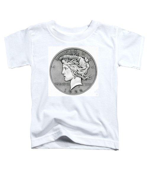 Graphite Peace Dollar Toddler T-Shirt
