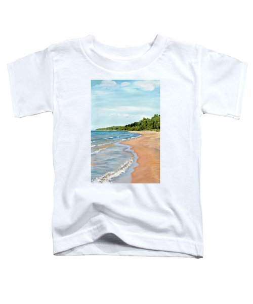 Peaceful Beach At Pier Cove Toddler T-Shirt