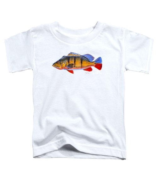 Peacock Bass Toddler T-Shirt by Carey Chen