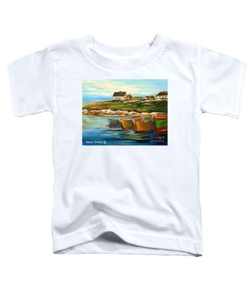 Peggys Cove With Fishing Boats Toddler T-Shirt