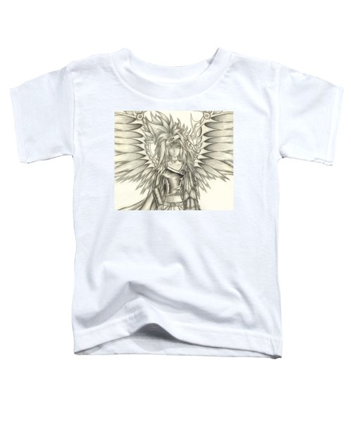 Toddler T-Shirt featuring the drawing Pelusis God Of Law And Order by Shawn Dall