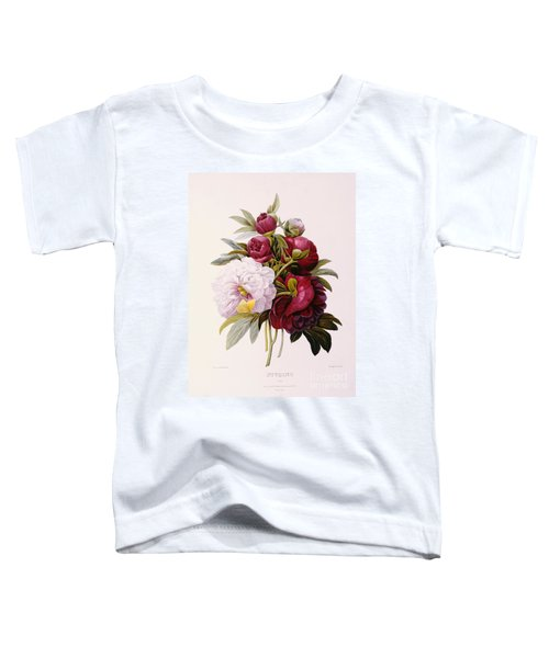 Peonies Engraved By Prevost Toddler T-Shirt