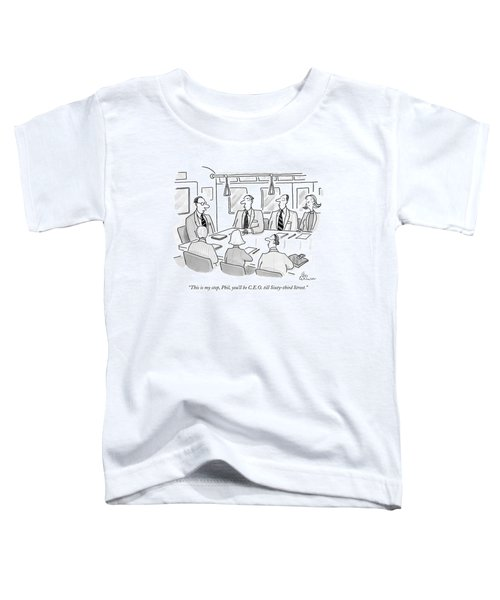 People Sit At A Desk On The Subway Toddler T-Shirt