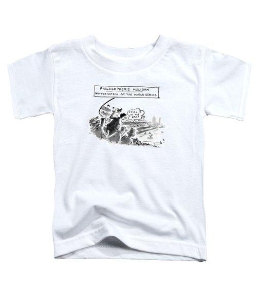 Philosopher's Holiday Wittgenstein At The World Toddler T-Shirt