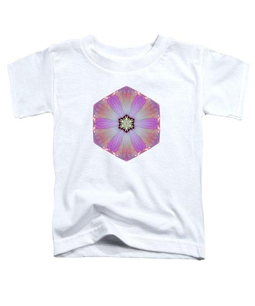 Pink And White Hibiscus Moscheutos I Flower Mandala White Toddler T-Shirt