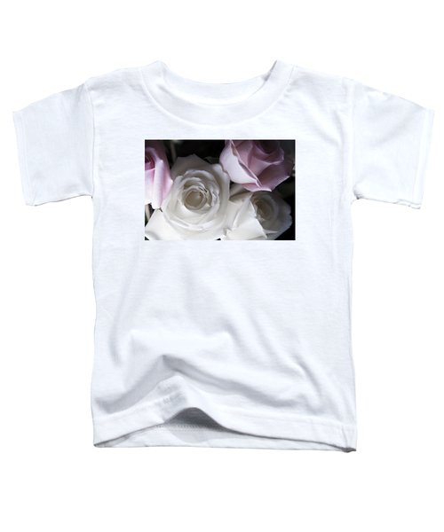Pink And White Roses Toddler T-Shirt
