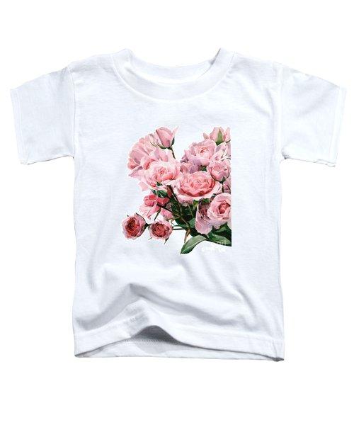 Pink Rose Bouquet Toddler T-Shirt
