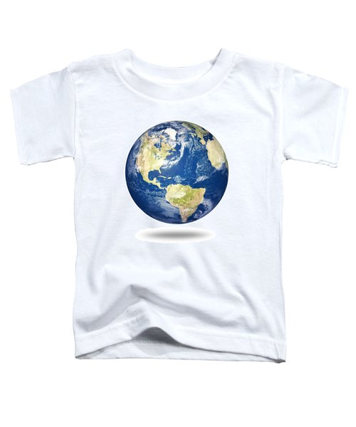 Planet Earth On White - America Toddler T-Shirt