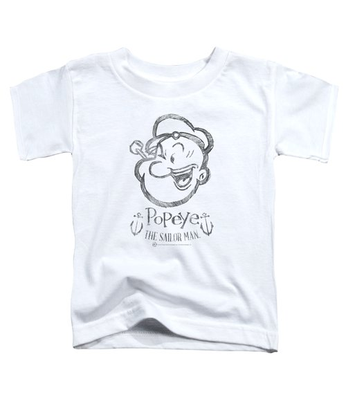 Popeye - Sketch Portrait Toddler T-Shirt by Brand A