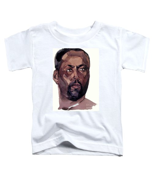 Watercolor Portrait Of An Athlete Toddler T-Shirt