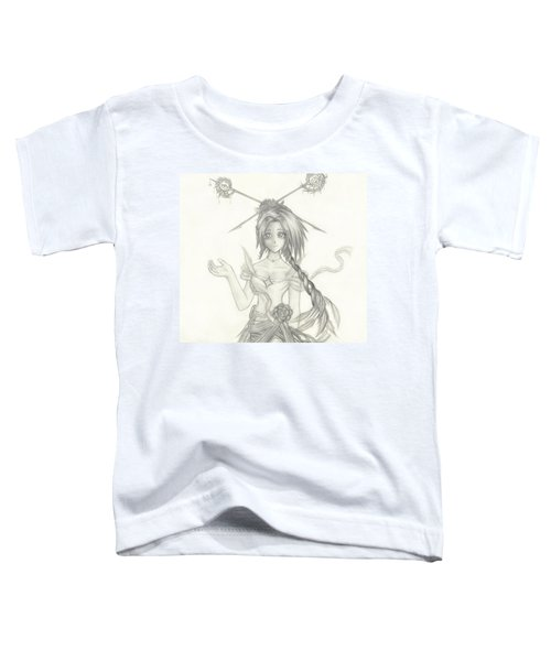 Toddler T-Shirt featuring the drawing Princess Altiana by Shawn Dall