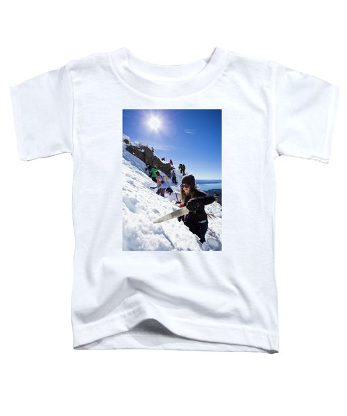 Professional Skier Using A Snow Saw Toddler T-Shirt