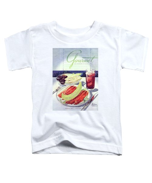 Prosciutto, Melon, Olives, Celery And A Glass Toddler T-Shirt