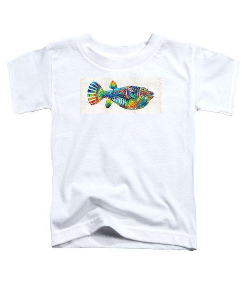 Puffer Fish Art - Blow Puff - By Sharon Cummings Toddler T-Shirt