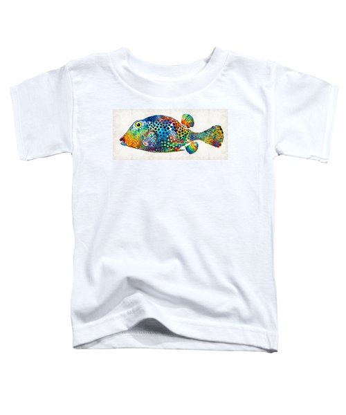 Puffer Fish Art - Puff Love - By Sharon Cummings Toddler T-Shirt