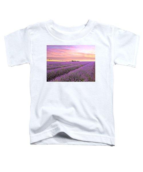 Purple Haze - Lavender Field At Sunrise Toddler T-Shirt