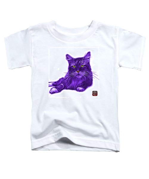 Purple Maine Coon Cat - 3926 - Wb Toddler T-Shirt