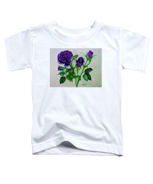 Purple Roses Toddler T-Shirt