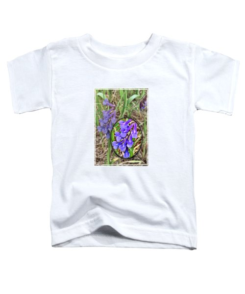 Toddler T-Shirt featuring the photograph Purple Wildflowers by Susan Kinney