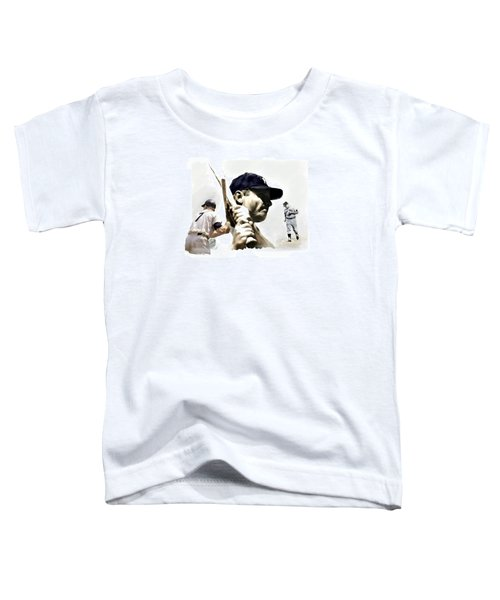 Quality Of Greatness Mickey Mantle Toddler T-Shirt by Iconic Images Art Gallery David Pucciarelli