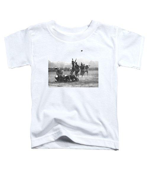 Quarterback Throwing Football Toddler T-Shirt