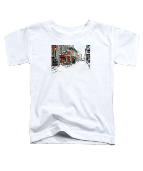 Quebec City In Winter Toddler T-Shirt