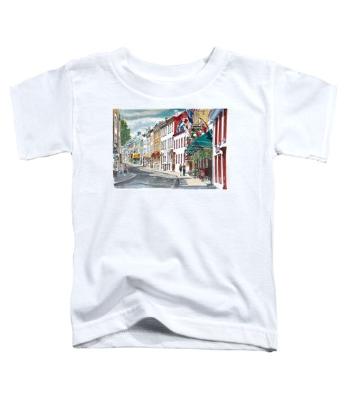 Quebec Old City Canada Toddler T-Shirt