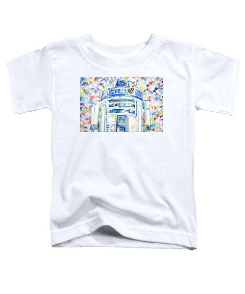 R2-d2 Watercolor Portrait.1 Toddler T-Shirt