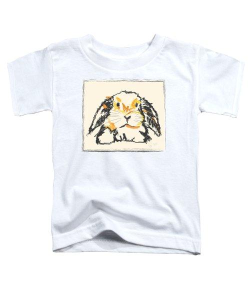 Toddler T-Shirt featuring the painting Rabbit Jon by Go Van Kampen